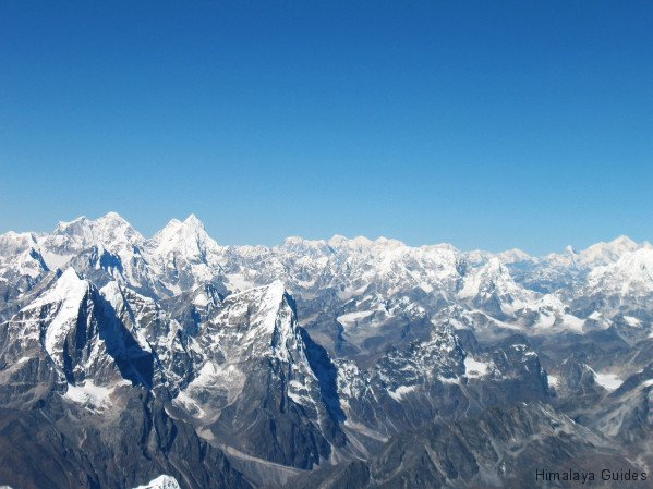 mountain flight view of Mount Everest, Nepal