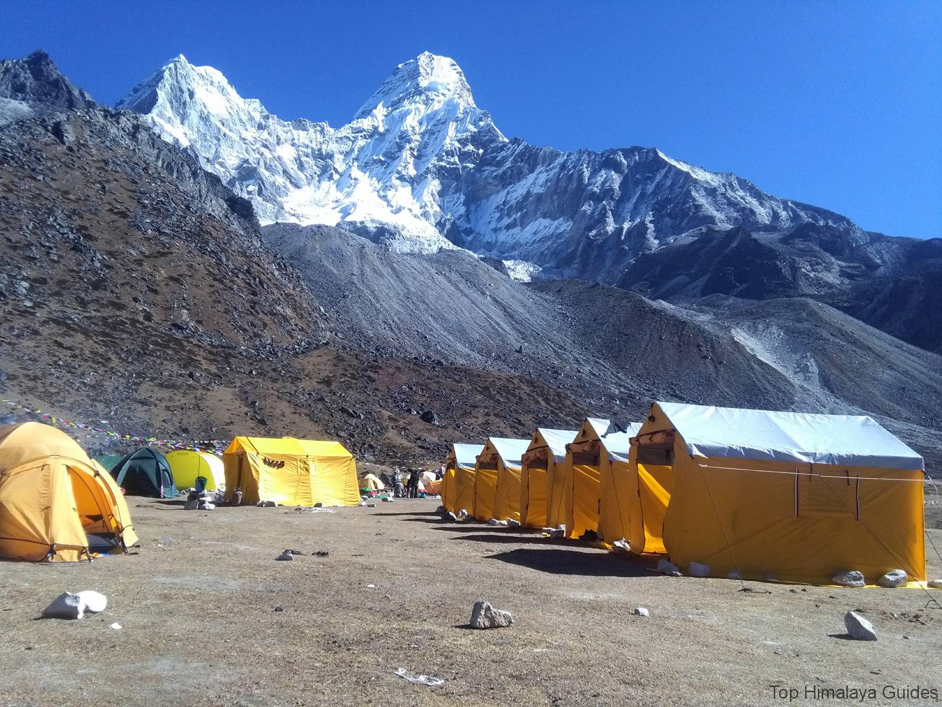 Top Himalaya Guides Mt. Ama Dablam climbing expedition 2016 base camp