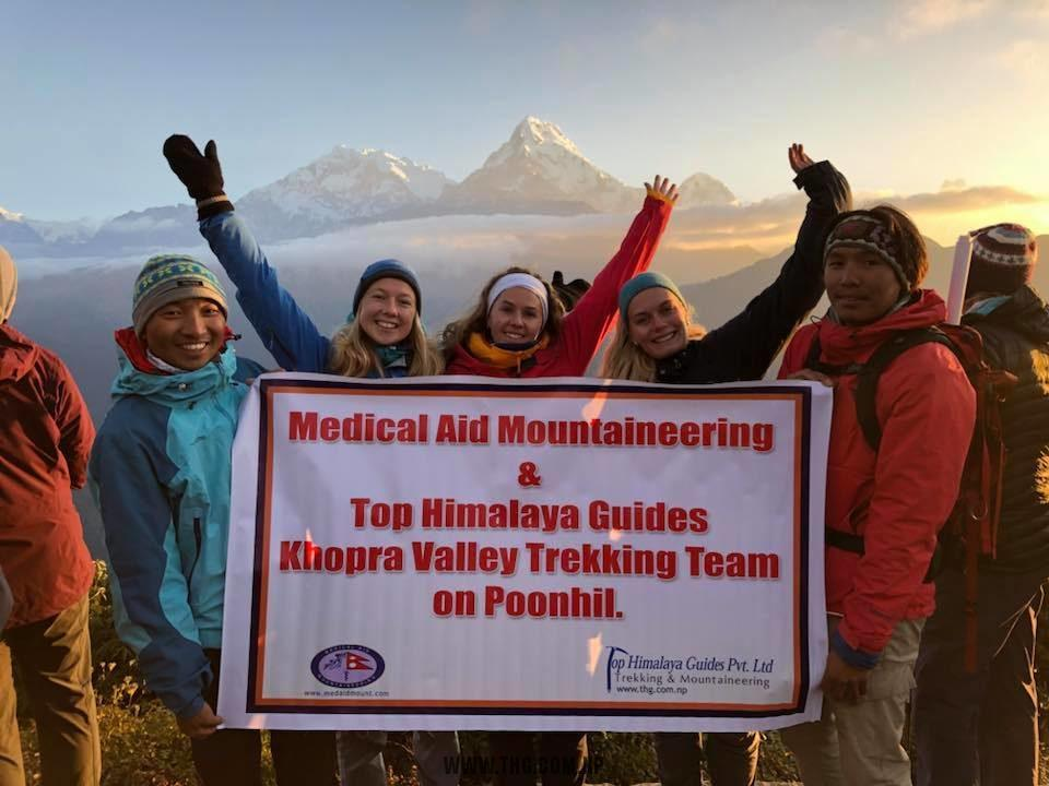 Medical Aid mountaineering team Khopra Trek 2018