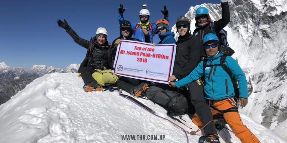 Top Himalaya Guides & MAA Island peak (Imja-Tse ) climbing expedition