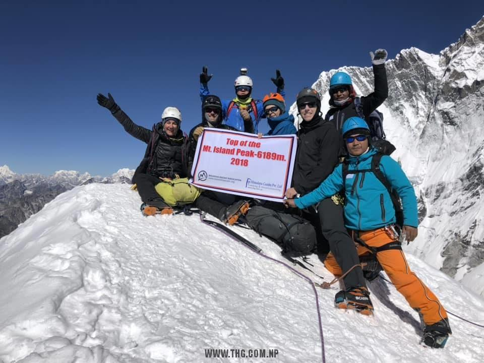 Top Himalaya Guides & MAA Island peak (Imja-Tse ) climbing expedition