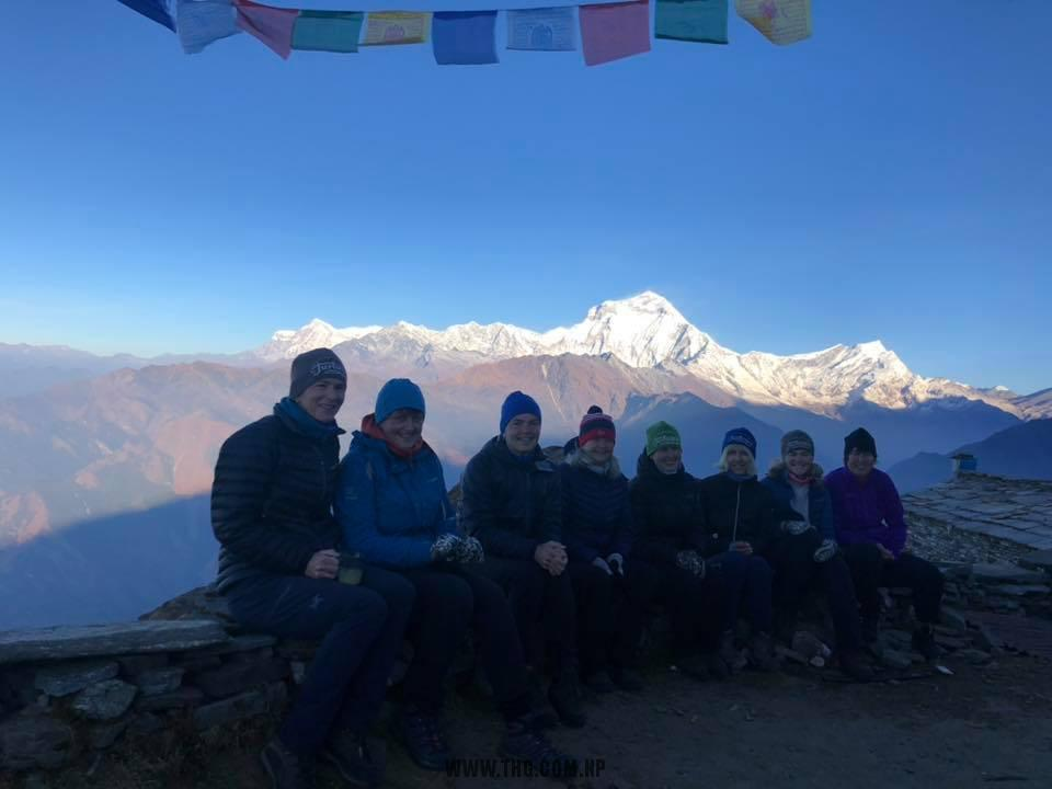 Khopra Trek with Ghorepani Norske fjelljenter til Himalaya Nepal team are enjoying every moment with nature and local people of Nepal