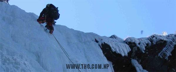 Eagle Nest Waterfall Ice Climbing