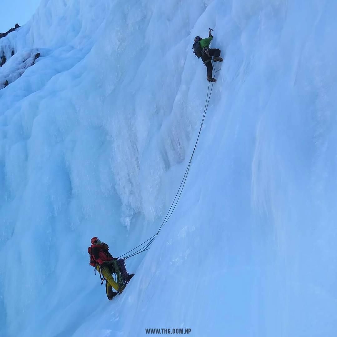 IFMGA Exam Waterfall Ice Climbing